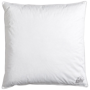 RIBECO® Federkopfkissen (80x80, weiß, 1000g)