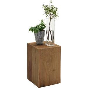 Ambia Home BLUMENSÄULE Holz Recyclingholz, Teakholz massiv, Braun