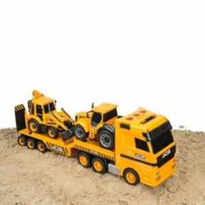 JCB LKW mit Traktor und Baggerlader