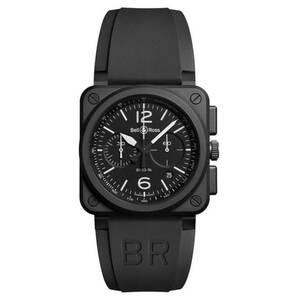 "Bell & Ross             Herrenuhr ""BLACK MATTE"" BR0394-BL-CE, Chronograph"