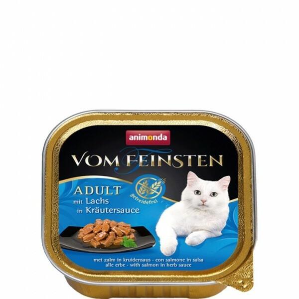 Animonda Cat Vom Feinsten mit Lachs in Kräutersauce ,  Inhalt: 100 g