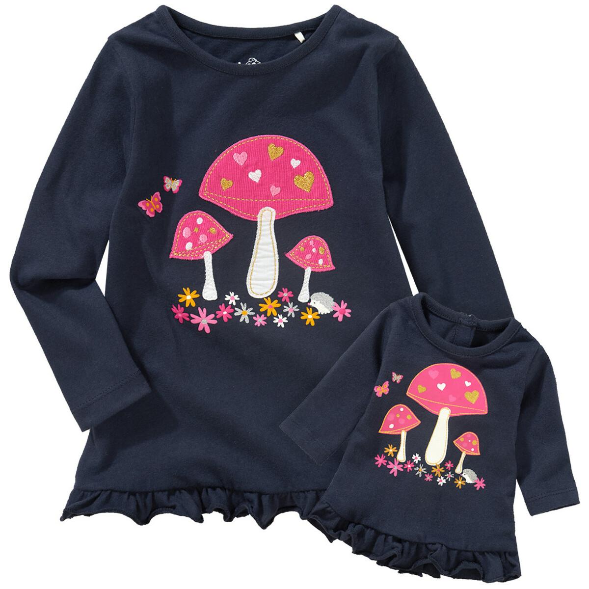 Bild 1 von Mädchen Langarmshirt mit Puppenshirt