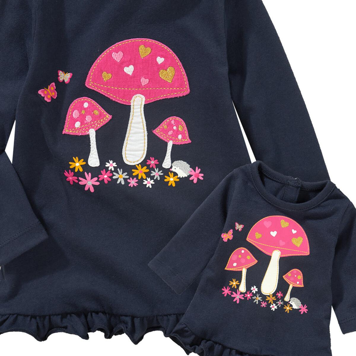 Bild 2 von Mädchen Langarmshirt mit Puppenshirt