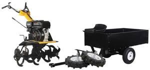 Universal-Kombimaschine Fusion 10TG mit Vario Antrieb, Anhänger und Radsatz TEXAS EQUIPMENT