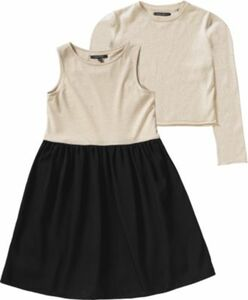 Kinder Kleid + Pullover 2 in 1 schwarz-kombi Gr. 170/176 Mädchen Kinder