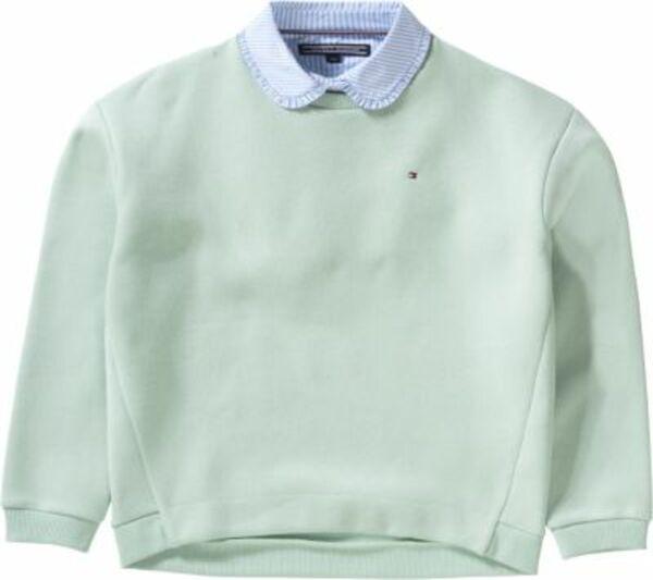 Sweatshirt mit Blusenkragen grau Gr. 152 Mädchen Kinder