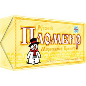 """Eis-Brikett """"Plombir"""" mit Vanillegeschmack"""