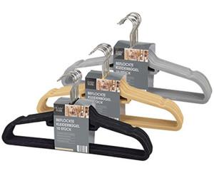 EASY HOME®  10 Beflockte Kleiderbügel