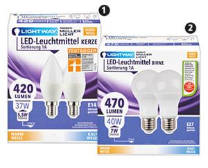 LIGHTWAY®  LED-Leuchtmittel, nicht dimmbar, 2er-Set