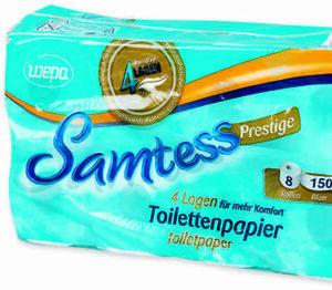 Samtess Toilettenpapier