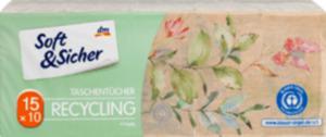 Soft&Sicher Taschentücher Recycling (15x10 Stück)