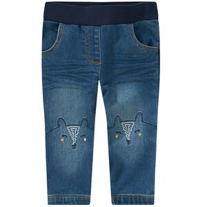 Baby Pull-on-Jeans mit Fuchs-Motiven