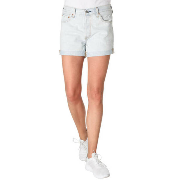 "Levi´s             Jeans-Shorts ""501 Long"", Stickerei-Detail, Umschlag"