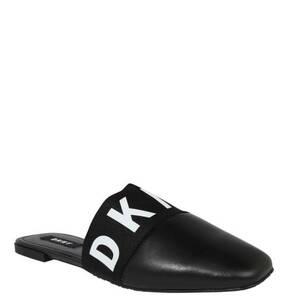 """DKNY             Mules """"Dawn"""", Leder, Elastikeinsatz, Logo-Print"""