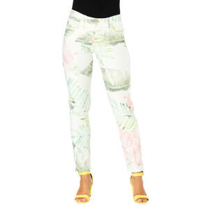 "Blue Fire             Stoffhose ""Nancy"", Slim Fit, Pailletten, Tropical Print"