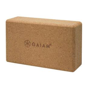 "Gaiam             Yogablock "" Cork Yoga Brick"""