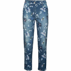 Zerres Damen Jeans mit floralem Muster