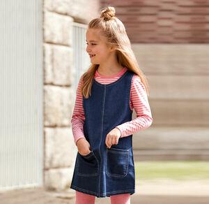 Kids Mädchen-Trägerkleid in Jeans-Optik