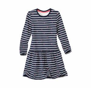 Kids Mädchen-Kleid mit stylischen Streifen