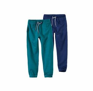 Kids Jungen-Jogging-Hose mit elastischem Bund, 2er Pack