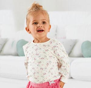 Liegelind Baby-Mädchen-Shirt mit praktischer Knopfleiste
