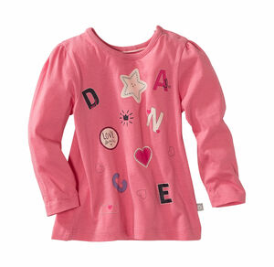 Liegelind Baby-Mädchen-Shirt mit Puffärmeln