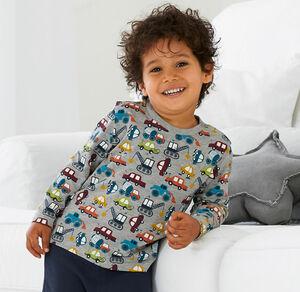 Liegelind Baby-Jungen-Shirt mit coolen Fahrzeugen