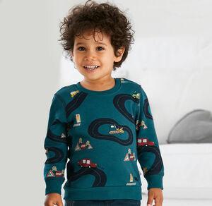 Liegelind Baby-Jungen-Sweatshirt mit angesagtem Auto-Motiv