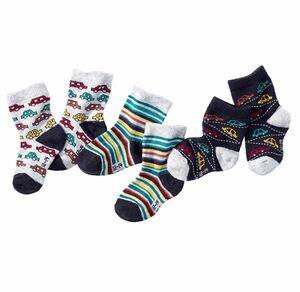 Baby-Jungen-Socken mit abgesetzter Ferse, 3er Pack