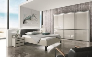 Wiemann - Schlafzimmer Montreal in kieselgrau-Optik/kieselgrau-Glas