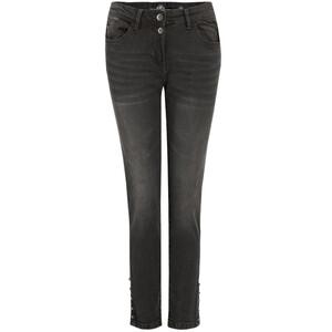 7/8 Damen Slim-Jeans in Used-Optik