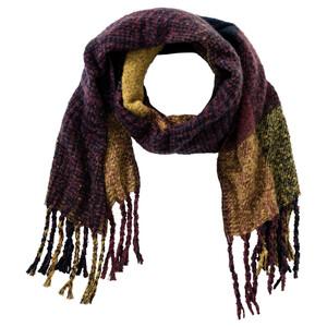 Damen Schal mit großem Karo-Muster