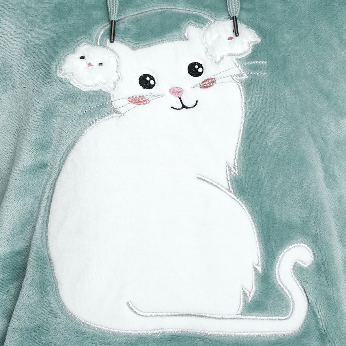 Bild 3 von Damen Kuschelkleid mit Katzen-Applikation
