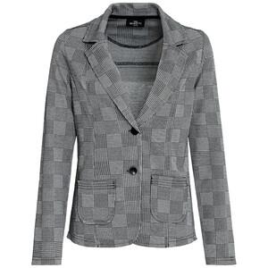 Damen Sweatblazer mit Glencheck-Muster