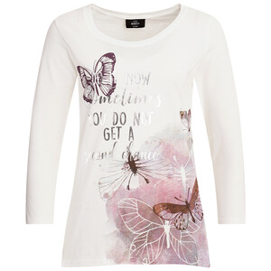 Damen Shirt mit Schmetterling-Print