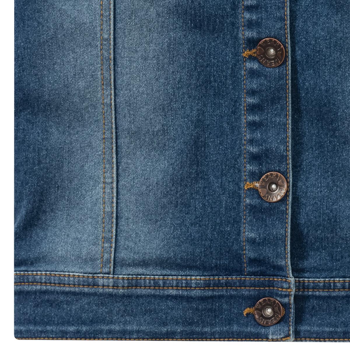 Bild 3 von Mädchen Jeansweste mit Plüschkragen