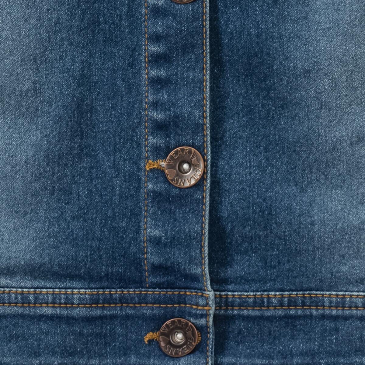 Bild 5 von Mädchen Jeansweste mit Plüschkragen