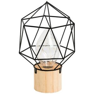 LED-Leuchte auf Holzfuß