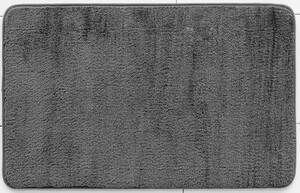 Sensino Superflausch Badematte ca. 80 x 50 cm, Stahlgrau