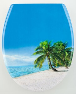 badkomfort Duroplast WC-Sitz, Palmen-Strand