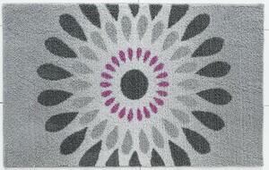 Sensino Badteppich Soft Sensation ca. 65x110 cm Kreisblüten Grau