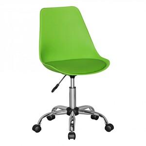 AMSTYLE KORSIKA | Drehstuhl Kunstleder Grün | Drehsessel Wartezimmerstuhl | Schreibtischstuhl Rücken