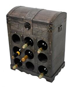 Harms Weinregal im Kolonialstil für 9 Flaschen