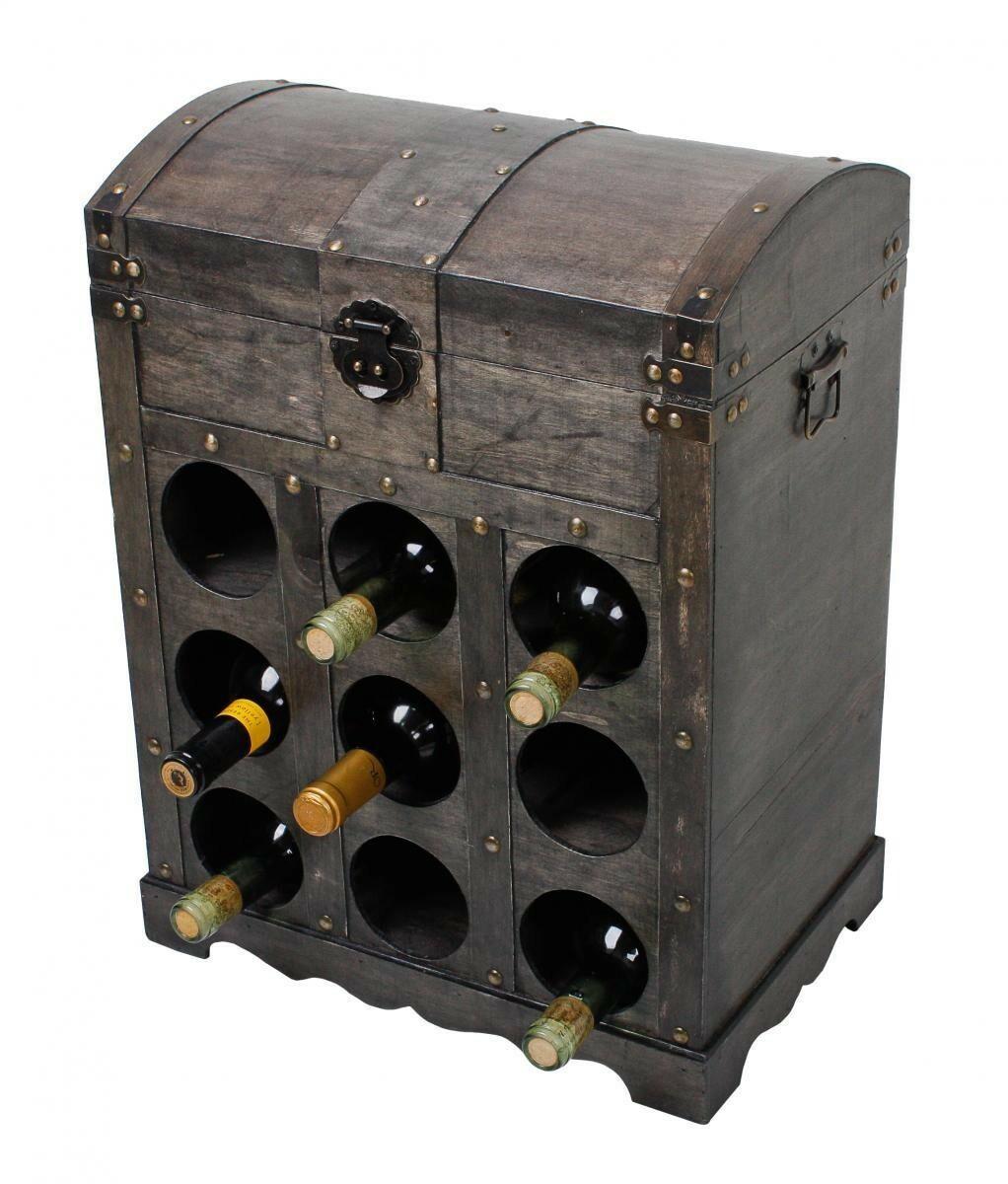 Bild 1 von Harms Weinregal im Kolonialstil für 9 Flaschen