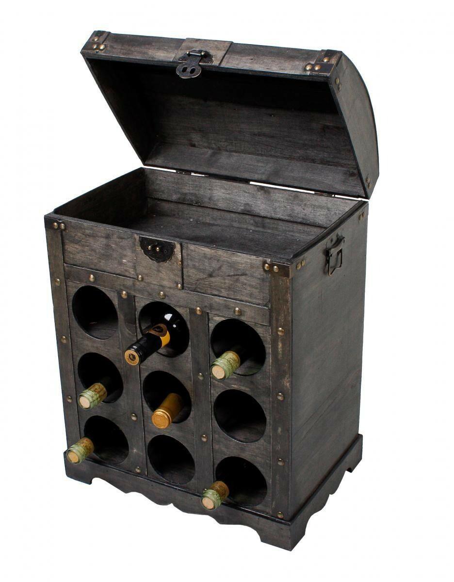 Bild 2 von Harms Weinregal im Kolonialstil für 9 Flaschen