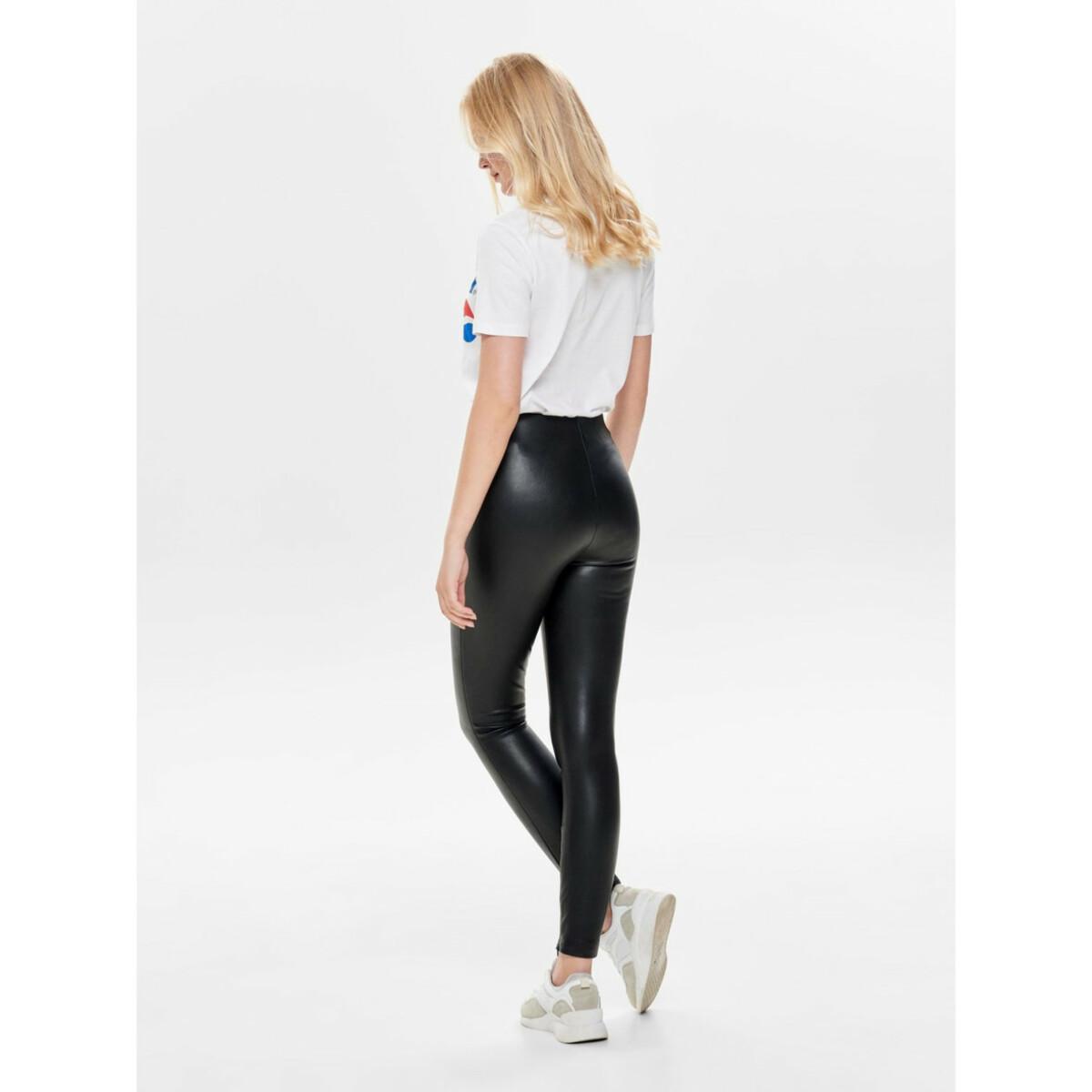 Bild 5 von Damen Only Fake Lederhose in schmaler Form