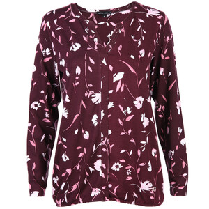 Damen Shirt im Alloverprint mit Glitzersteinchen