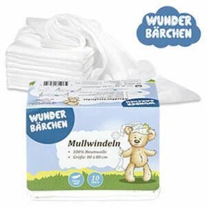 Mullwindeln oder Moltontuecher, 100% Baumwolle, Größe: ca. 80 x 80 c, extrasoft, hygienisch und hautschonend, vielseitig verwendbar, waschbar bei ca. 95°