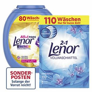 Lenor All in 1 Pods 110/80 Waschladung, versch.Sorten, jede Packung