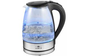 Lentz Wasserkocher Glas 74099 1,7 Liter Edelstahl